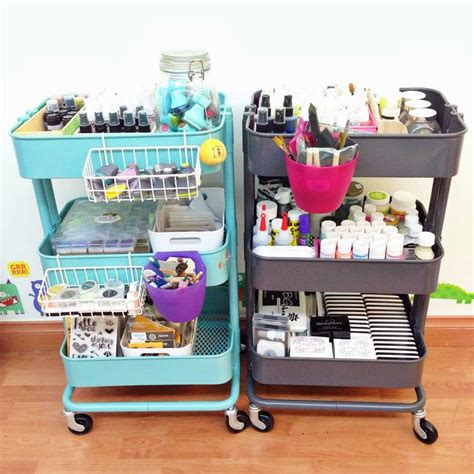 ikea storage cart 40 smart ways to use ikea raskog cart for home storage