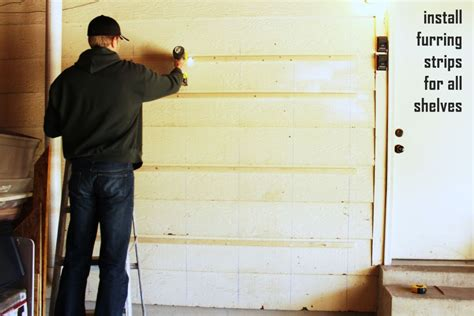 how to install built in bookshelves diy fast and easy built in wall garage shelves