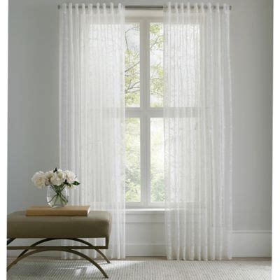 95 white curtains buy 95 quot sheer curtain from bed bath beyond