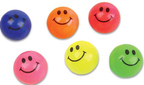 color balls 27mm solid colored smile bouncy