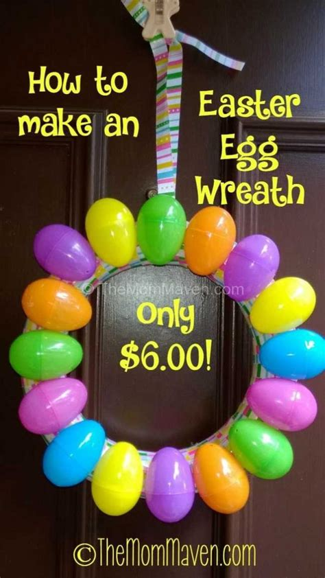 How To Make An Easter Egg Out Of Paper - how to make an easter egg wreath the maven