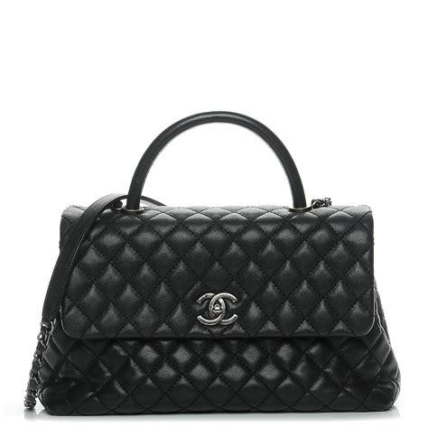 Tas Chanel Coco Handle Medium chanel caviar quilted medium coco handle flap black 210911