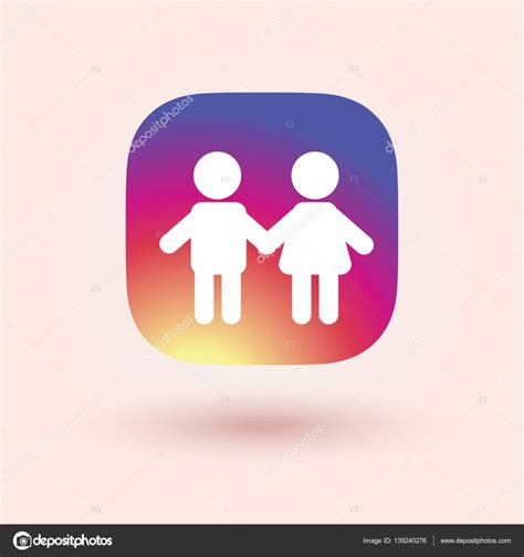 instagram pattern background app happy kids icon in trendy flat style isolated on colorful