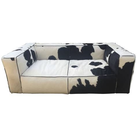 cow leather sofa sofa cow leather for sale at 1stdibs