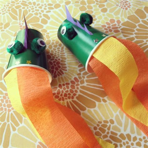 Crafts With Paper Cups - breathing dragons a paper cup craft for