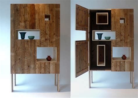 recycled wood cabinets made from recycled floorboards