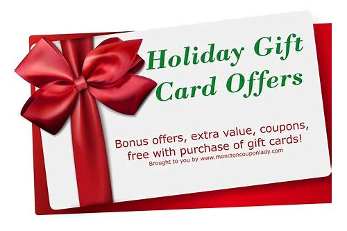 holiday deals gift cards