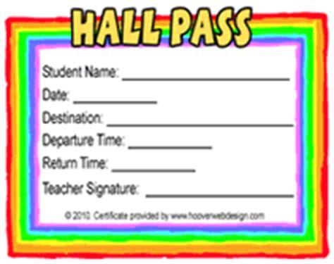 Printable School Hall Pass Templates Class Pass Template