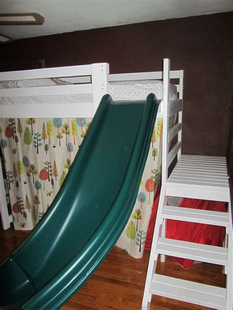 Bunk Bed With Slide And Stairs Bed Ideas C Loft Bed With Stairs Slide And Fort Diy For The Home Stair