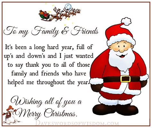 daveswordsofwisdomcom wishing merry christmas  family friends