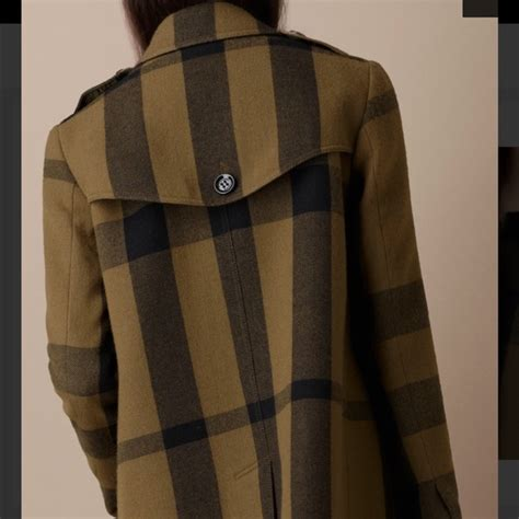 burberry swing coat 44 off burberry jackets blazers burberry brit green