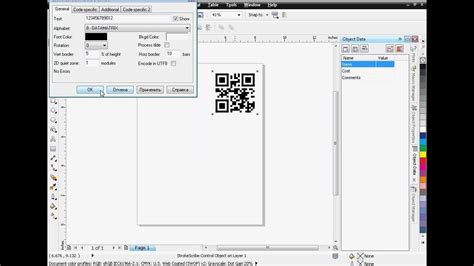 corel draw x6 qr codes qr code data matrix and pdf417 in coreldraw youtube