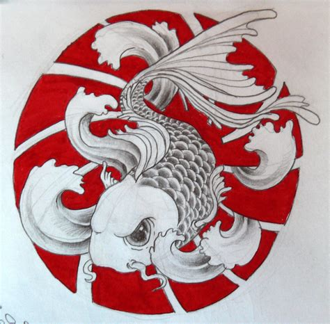 simple koi fish tattoo designs koi fish 02 by zioman on deviantart