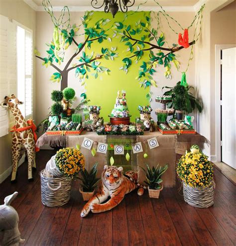 1st Birthday Decoration Ideas At Home by Cute Boy 1st Birthday Party Themes
