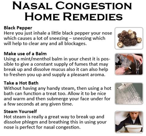 home remedies for nasal congestion nasal congestion home remedies