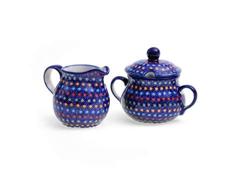 zuckerdose modern bunzlauer keramik zuckerdose und milchk 228 nnchen 2 er set iz