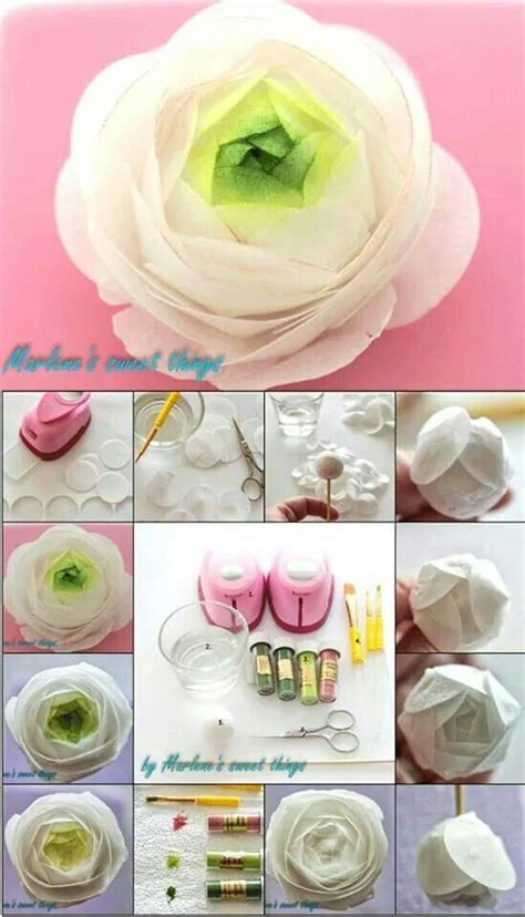 How To Make Paper Ranunculus - 1000 ideas about sugar flower tutorial on
