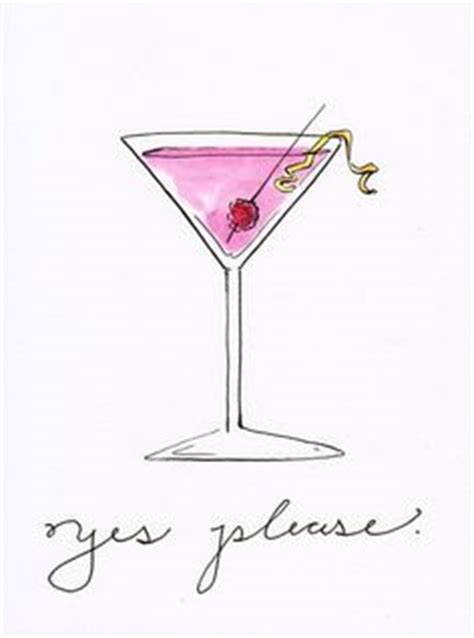 cosmopolitan drink drawing food illustration clair rossiter illustration