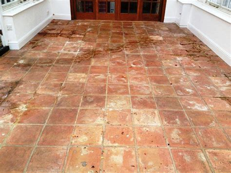 terracotta tiled conservatory