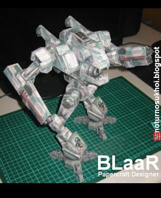 Mechanical Papercraft - mechwarrior 4 mektek wildcat mech papercraft papercraft