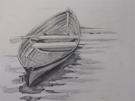 how to draw a boat in perspective drawn boat pencil sketch pencil and in color drawn boat