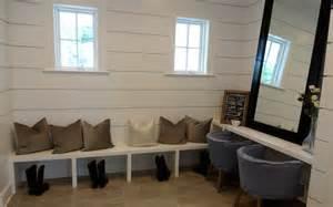 shiplap mudroom ideas transitional laundry room