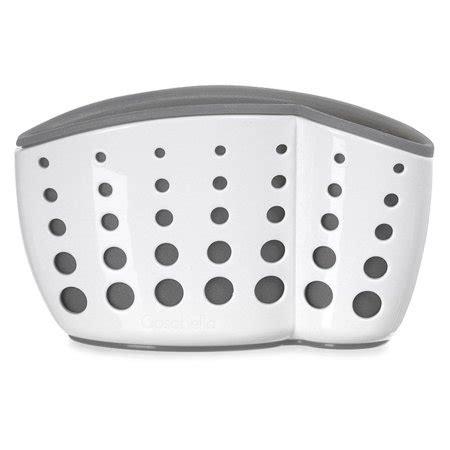 sponge holder for kitchen sink walmart casabella sink sider suction cup sponge holder white