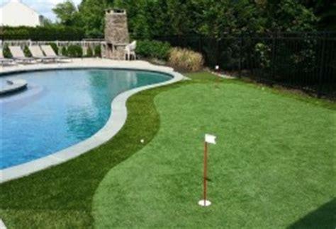 pool  putting green dynasty gunite fiberglass pools