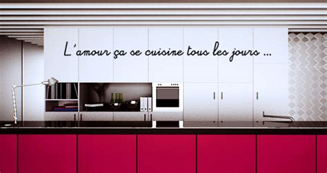 citation cuisine amour stickers muraux citation amour et cuisine sticker