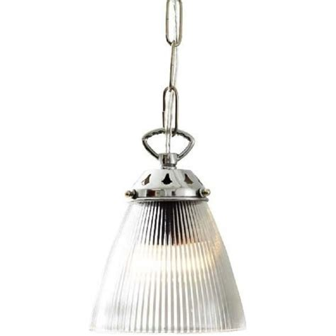 Small Pendant Lights Uk Small Ribbed Glass Hanging Ceiling Pendant Light On Chrome Fitting
