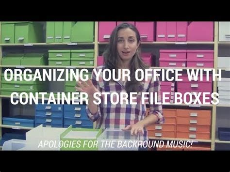 youtube organizing organizing your office with container store file boxes kacy paide office organizing expert