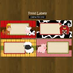 barn food barn printable food labels barnyard farm by
