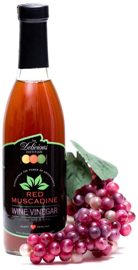 red muscadine wine vinegar the delicious dietitian