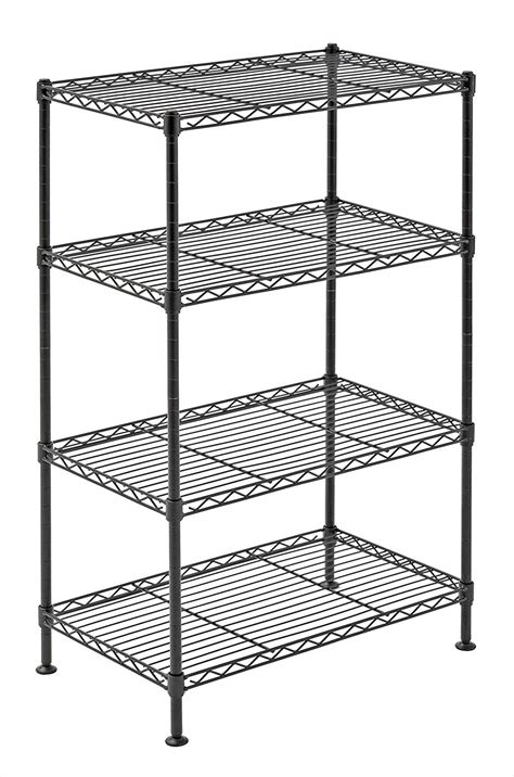 metal garage shelving 4 tier wire shelving rack metal shelf adjustable unit garage kitchen storage new ebay