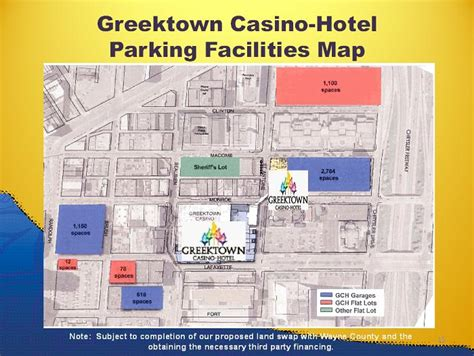Greektown Casino Parking Garage by Greektown Casino Hotel Parking Facilities Map 13 Note