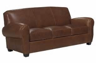 3 cushion leather sleeper sofa with rolled arms club