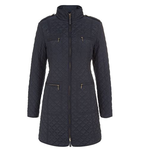 Hobbs Quilted Coat by Hobbs Polly Quilted Coat In Blue Lyst