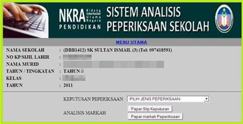 sistem analisis peperiksaan sekolah saps online saps semakan sistem analisis peperiksaan sekolah online