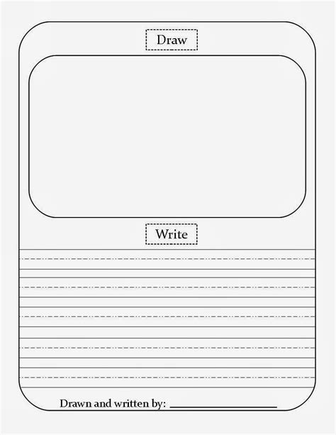 primary writing paper with picture box primary writing paper