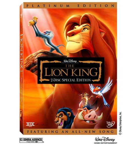 film lion dvd the lion king dvd 2003