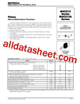 transistor e13009 datasheet mac212 4 datasheet pdf motorola inc