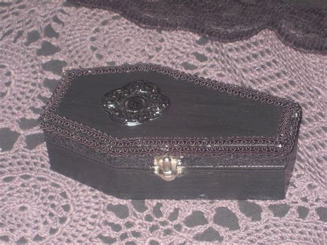 gothic coffin box  coffin shaped box woodwork