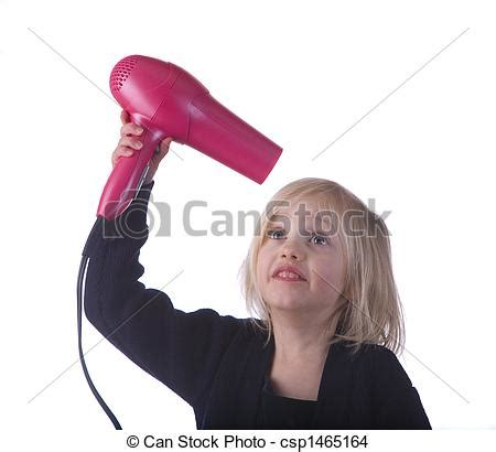 Hair Dryer Gpu Reflow stock photo of child with pink hair dryer child with