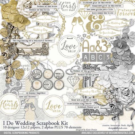 Wedding Kit by I Do Wedding Scrapbooking Kit Pertiet Kits