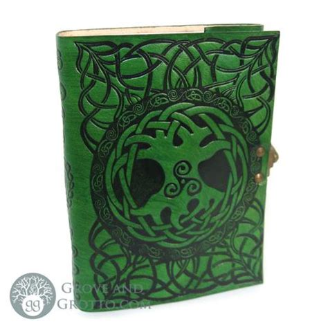 Poetic Earth Handmade Journals - poetic earth celtic tree leather journal grove and grotto