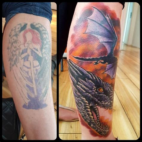 tattoo cover up nz fantasy dragon cover up tattoo by steve malley tattoos