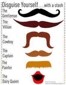 Mustache Print Out Template by Mustache Disguise Printable Template Mamacheemamachee