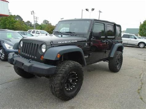 used jeep rubicon unlimited jeep wrangler rubicon used virginia mitula cars