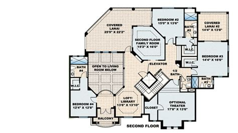 Plan W76016gw Second Floor Family Room And Lanai E House Plans With Lanai