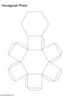 3d Hexagon Template by Paper Hexagonal Prism